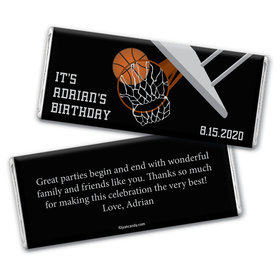 Birthday Personalized Chocolate Bar Wrappers Basketball Hoop Slam Dunk