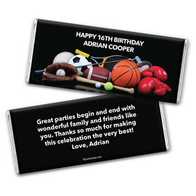 Birthday Personalized Chocolate Bar Wrappers Sports