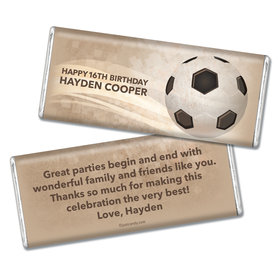 Birthday Personalized Chocolate Bar Soccer Ball