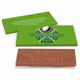 Deluxe Personalized Birthday Golf Chocolate Bar in Gift Box