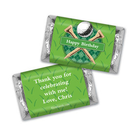 Birthday Personalized Hershey's Miniatures Argyle Golf Ball