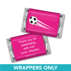 Birthday Personalized Hershey's Miniatures Wrappers Soccer