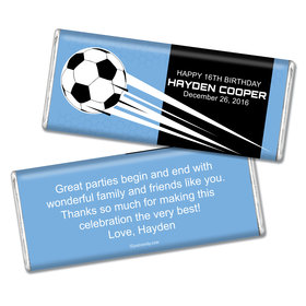 Birthday Personalized Chocolate Bar Soccer