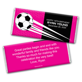 Birthday Personalized Chocolate Bar Wrappers Soccer