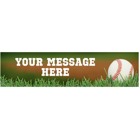 Personalized Baseball 5 Ft. Banner
