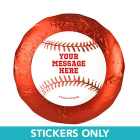 "Baseball Personalized 1.25"" Stickers (48 Stickers)"