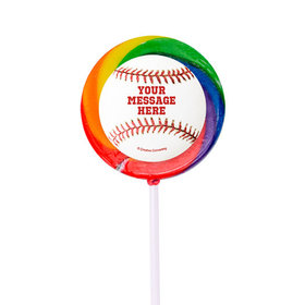 "Baseball Personalized 2"" Lollipops (24 Pack)"