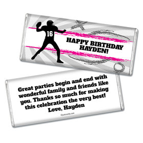 Birthday Personalized Chocolate Bar Football Quarterback