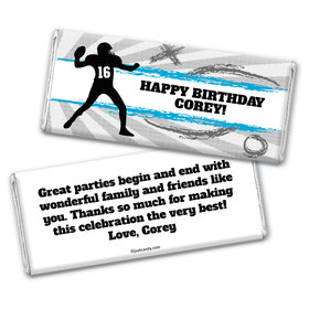 Birthday Personalized Chocolate Bar Wrappers Football Quarterback