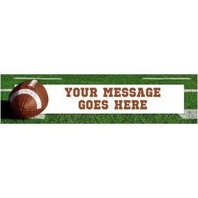 Personalized Football Party Banner