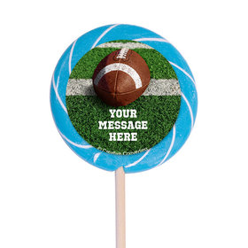 "Football Personalized 3"" Lollipops (12 Pack)"