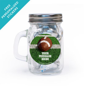 Football Personalized Mini Mason Jar 12 Pack