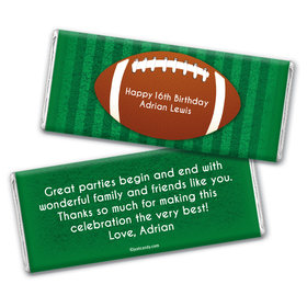 Birthday Personalized Chocolate Bar Wrappers Large Football
