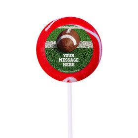 """Football Personalized 2"""" Lollipops (24 Pack)"""