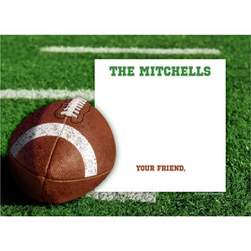 Football Personalized Thank You Note
