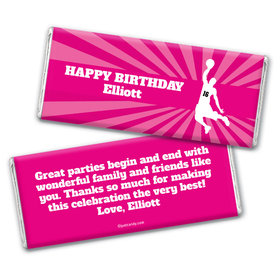 Birthday Personalized Chocolate Bar Wrappers Basketball Slam Dunk