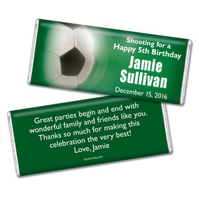 Birthday Personalized Chocolate Bar Large Soccer Ball