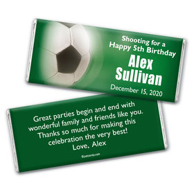 Birthday Personalized Chocolate Bar Wrappers Large Soccer Ball