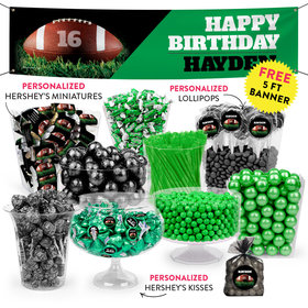 Personalized Birthday Touchdown Deluxe Candy Buffet
