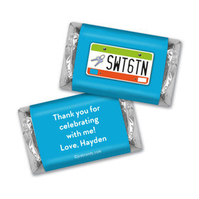 Birthday Personalized Hershey's Miniatures Wrappers Sweet 16 License Plate