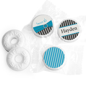 Birthday Personalized Life Savers Mints Glamour Stripes Sweet 16