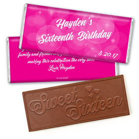 Birthday Personalized Embossed Chocolate Bar Bubbles & Dots