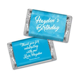 Birthday Personalized Hershey's Miniatures Wrappers Bubbles & Dots