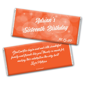 Birthday Personalized Chocolate Bar Wrappers Bubbles & Dots