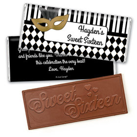 Birthday Personalized Embossed Chocolate Bar Harlequin Masquerade