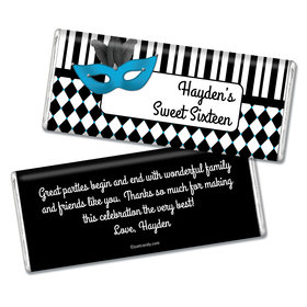 Birthday Personalized Chocolate Bar Harlequin Masquerade