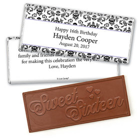 Birthday Personalized Embossed Chocolate Bar Jacquard Pattern