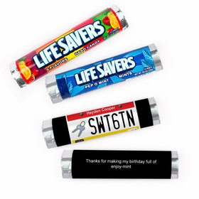 Personalized Sweet 16 License Plate Lifesavers Rolls (20 Rolls)