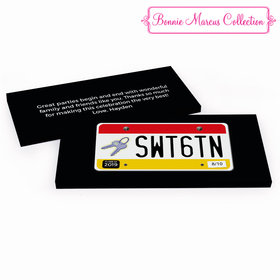 Deluxe Personalized Sweet 16 Birthday License Plate Hershey's Chocolate Bar in Gift Box