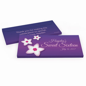 Deluxe Personalized Sweet 16 Birthday Cherry Blossom Hershey's Chocolate Bar in Gift Box