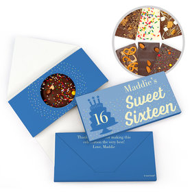 Personalized Birthday Sweet 16 Let's Celebrate Gourmet Infused Belgian Chocolate Bars (3.5oz)