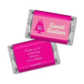 Personalized Birthday Hershey's Miniatures Sweet 16 Let's Celebrate