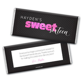 Personalized Sweet 16 Chic 16 Chocolate Bar & Wrapper