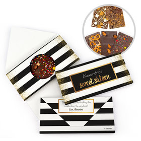 Personalized Birthday Sweet 16 Sweet 16 Uptown Glitz Gourmet Infused Belgian Chocolate Bars (3.5oz)