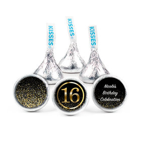 Personalized Elegant 16th Birthday Bash Hershey's Kisses (50 pack)