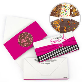 Personalized Birthday Sweet 16 Glamour Stripes Gourmet Infused Belgian Chocolate Bars (3.5oz)