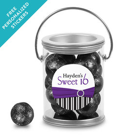 Birthday Personalized Paint Can Glamour Stripes Sweet 16 (25 Pack)