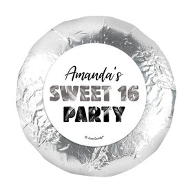 "Personalized Sweet 16 Birthday Beach Party 1.25"" Sticker (48 Stickers)s"