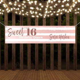 Personalized Birthday Sweet 16 Birthday Queen Banner
