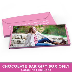 Deluxe Personalized Sweet 16 Birthday Full Photo Candy Bar Favor Box