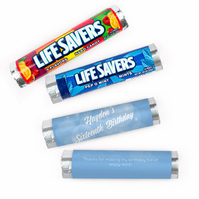 Personalized Sweet 16 Bubbles & Dots Lifesavers Rolls (20 Rolls)