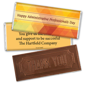 Business Embossed Thank You Chocolate Bar Colorful Administrative Professionals Day