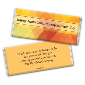 Business Personalized Chocolate Bar Wrappers Colorful Administrative Professionals Day