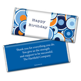 Employee Appreciation Personalized Chocolate Bar Circle Dots Administrative Professionals Day