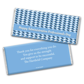 Administrative Professionals Day Personalized Chocolate Bar Wrappers Illusion