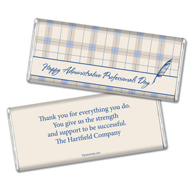 Employee Appreciation Personalized Chocolate Bar Plaid Administrative Professionals Day